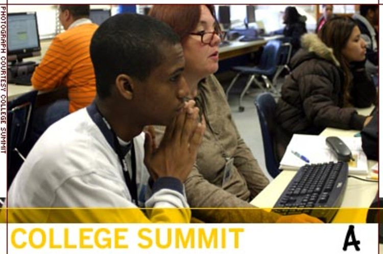 <p>College Summit aims to raise college enrollment among students from low-income neighborhoods. In 2006 and 2007, College Summit should serve 7,300 students, a 100% increase over two years ago.</p>