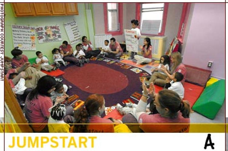 <p>Jumpstart has grown by 30% per year. Its 3,100 college students will teach 12,000 preschoolers this year. Twenty percent of graduating corps members go on to become full-time teachers.</p>