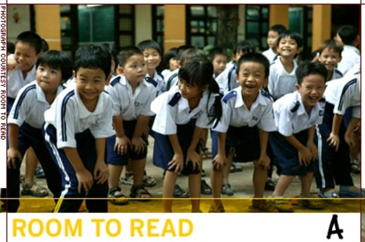 <p>Room to Read partners with local communities throughout the developing world to establish schools, libraries, and other educational infrastructure. It has published 150 storybooks in 23 languages and has trained more than 1,000 librarians. More than 1 million children now use the organization's facilities. </p>