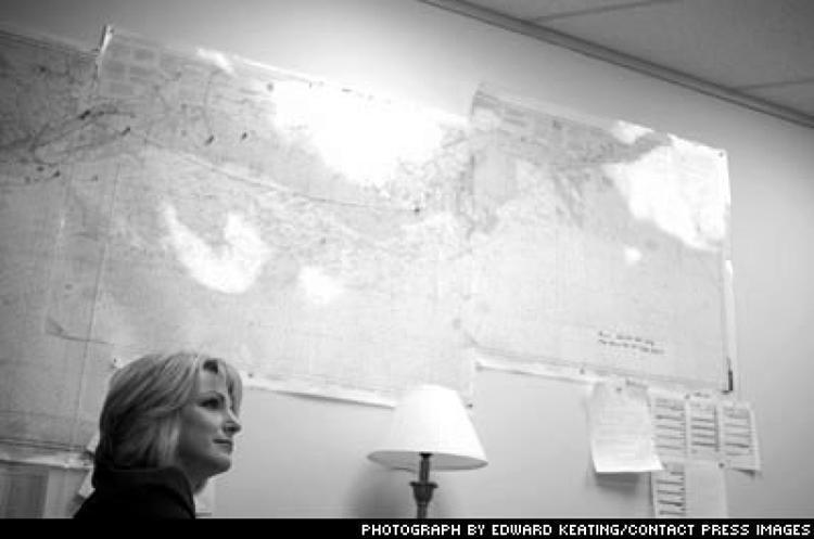 <p>Julie Rodriguez, president and CEO of Epic Divers & Marine, in the company's Houston office.</p>