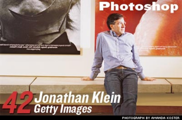 <p>Getty Images reads the zeitgeist and creates pictures to evoke it--stock images make up 80% of Klein's business. Recently, Getty moved into breaking-news photography, teaming up with Agence France-Presse and a roster of staff photographers. That helped them win a nod from <em>American PHOTO</em> magazine as the number-one &quot;Most Important People in Photography.&quot;</p>