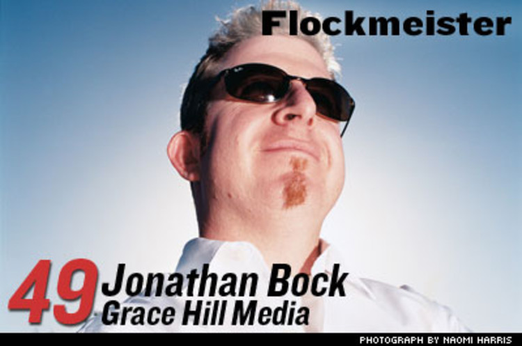 <p>Bock was working at Warner Bros. when he realized if you preach to the largely ignored network of 125 million churchgoers, you'd find success. His Grace Hill Media has pitched more than 80 films to churches and ministries. Bock woos the Christian press to meet with filmmakers, organizes screenings, and creates Bible study guides. </p>