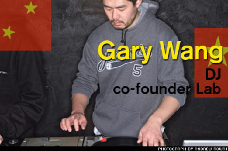 <p>Fed up with music in China--he recalls meeting kids who thought hip-hop came from Korea--Gary Wang did something about it: He helped create Lab, a graffiti-splattered hip-hop venue in his native Shanghai. Now, DJs come in from abroad to teach the craft (anyone can use Lab's equipment for free) and Wang, who hones his skills in Japan's underground has even taken local turntabilists to compete in London's DMC World DJ Championships.</p>