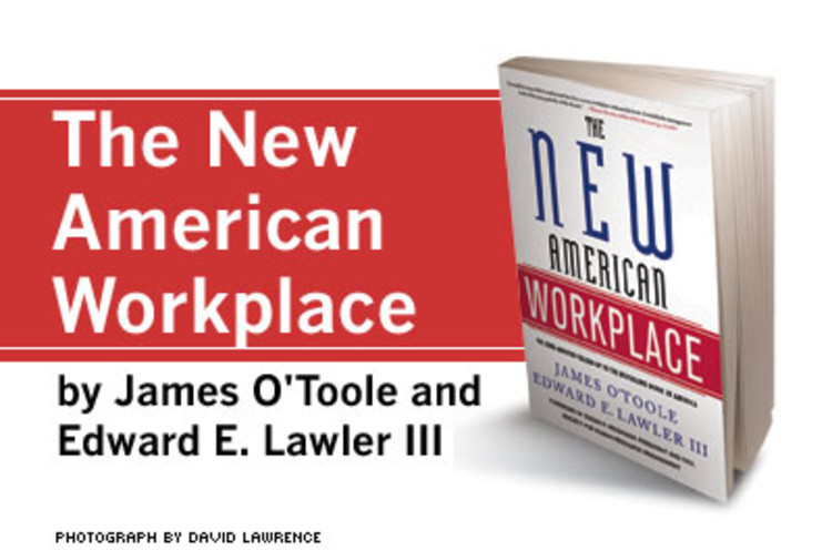 <p>In 1973, <em>Work in America</em> set the agenda for a generation of conversation about how we feel about work. With its sequel 33 years later, the two academics consider how far we've come -- and how far we still have to go in light of today's global economy being roiled by technological change. We asked O'Toole and Lawler to consider their seminal work in light of their current one <a href=&quot;http://www.fastcompany.com/magazine/106/piece-of-work.html&quot; target=&quot;_new&quot; title=&quot;Alpha Male&quot;>here</a>.<br /><strong><a href=&quot;http://www.amazon.com/gp/redirect.html?ie=UTF8&location=http%3A%2F%2Fwww.amazon.com%2FNew-American-Workplace-James-OToole%2Fdp%2F1403969590%2Fsr%3D1-1%2Fqid%3D1165518424%3Fie%3DUTF8&s%3Dbooks&tag=fastcompanycom&linkCode=ur2&camp=1789&creative=9325&quot;>Buy the Book</a><img src=&quot;http://www.assoc-amazon.com/e/ir?t=fastcompanycom&amp;l=ur2&amp;o=1&quot; width=&quot;1&quot; height=&quot;1&quot; border=&quot;0&quot; alt=&quot;&quot; style=&quot;border:none !important; margin:0px !important;&quot; /> </strong></p>