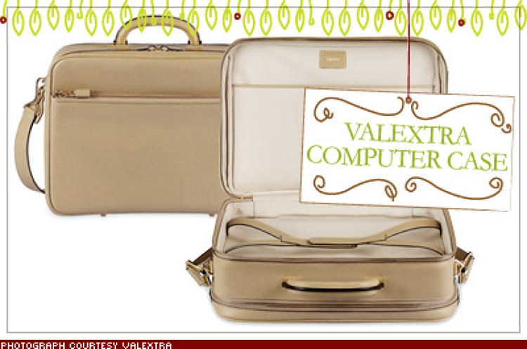 <p>If Aristotle Onassis had lugged around a laptop, Valextra's grain leather case would have been his bag. Clean lines, pristine white leather, and the lack of garish logos make dragging around PowerPoints downright stylish. $5,010; <a href=&quot;http://www.valextra.it/&quot; target=&quot;_blank&quot;>valextra.it</a></p>