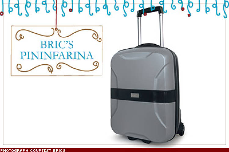 <p>Pininfarina, the design firm behind Alfa Romeos and Maseratis, has paired with luxe bag maker Bric's to create the ultimate carry-on, a 21-inch-high hard-shell roller available in red, black, silver, or gray. $350; <a href=&quot;http://www.brics.it&quot; target=&quot;_blank&quot;>brics.it</a></p>