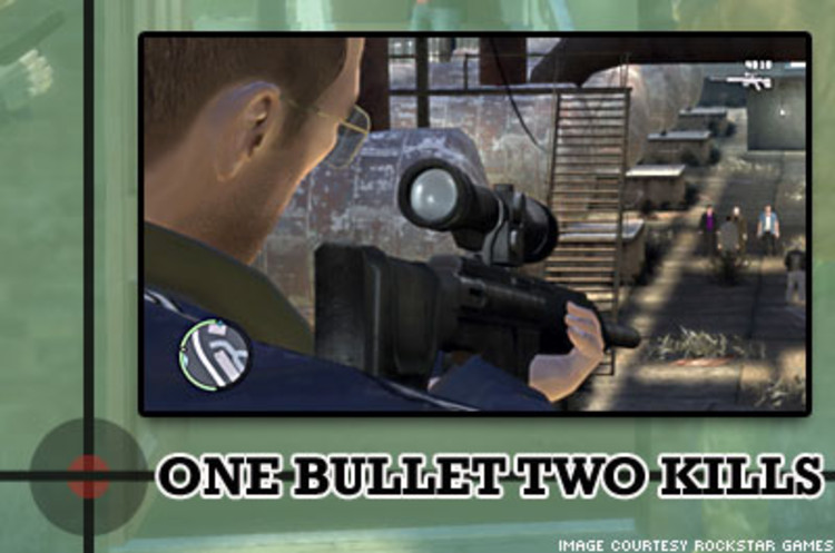 <p> In the game you accumulate a variety of weapons to complete missions ranging from pistols and shotguns to machine guns and sniper rifles. </p>
