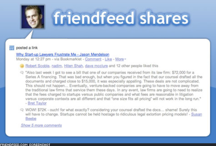 <p> FriendFeed can be used on its own, without importing feeds from social networks like Twitter, YouTube, and Flickr. Just add a message and post a link, and your latest thought is distributed to all of your friends. </p>
