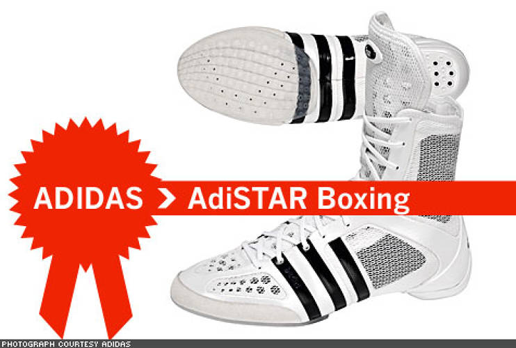 "<p> Practitioners of ""the sweet science"" need not worry about their ability to float like butterflies and sting like bees when wearing the ADISTAR BOXING shoe. It's designed to keep the boxer's weight on the balls of their feet, allowing for quicker and more responsive movement in the ring.  </p>"