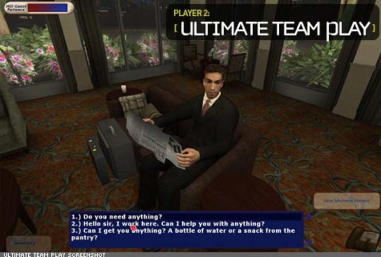 <p> Ultimate Team Play places Hilton Garden Inns employees in settings where they're faced with making decisions about how best to serve the customer. These simulations aren't just created for the front desk staff's use, they're implemented across all the service professions within the establishment.  </p>