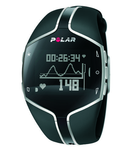 Cleverly disguised as a fitness watch, the Polar FT80 is an advanced heart rate monitor that embodies dedication. Seems like there isn't much this device doesn't do, since it checks on you, adapts to your workout habits, and gives you weekly training targets. It's the kind of device that gets serious athletes panting and looks classy even when you transition from running track to snazzy bar.