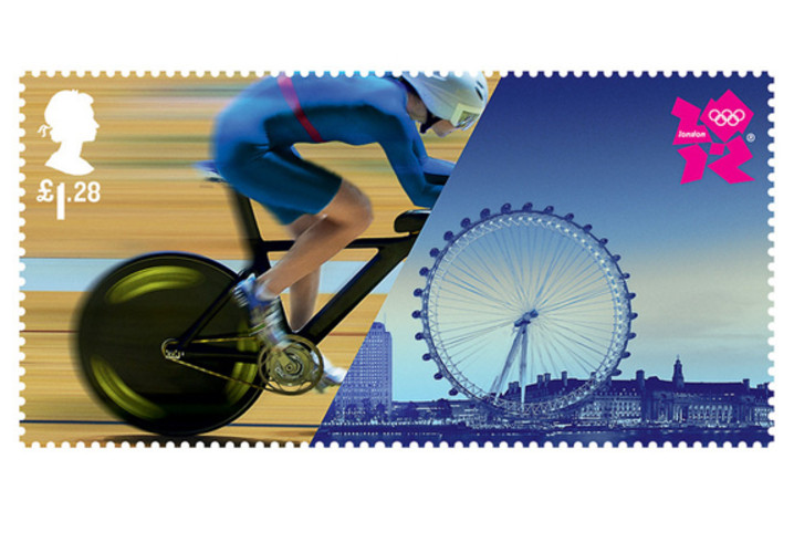 Designed by Hat-Trick, the four stamps fuse pictures of athletes with London's iconic structures. </br></br> <a href=&quot;http://www.fastcodesign.com/1670391/stamps-that-meld-londons-olympics-with-its-landmarks#1&quot;>Read more here</a>