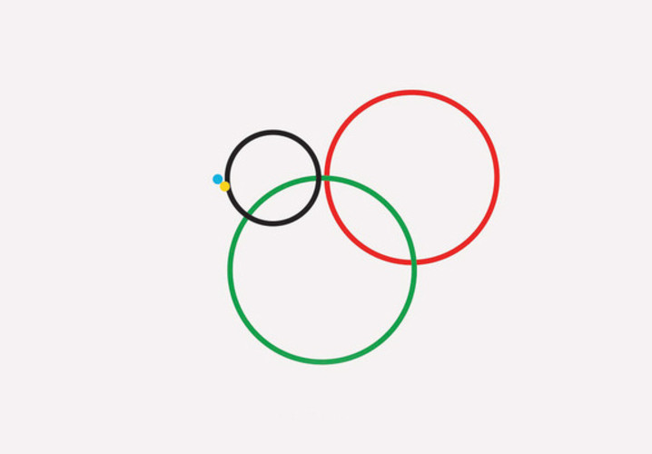 Gustavo Sousa uses the &quot;beautiful and elegant&quot; logo to show discrepancies between participating countries. </br></br> <a href=&quot;http://www.fastcodesign.com/1670344/infographics-using-the-olympic-rings-to-show-vast-inequalities#1&quot;>Read more here</a>