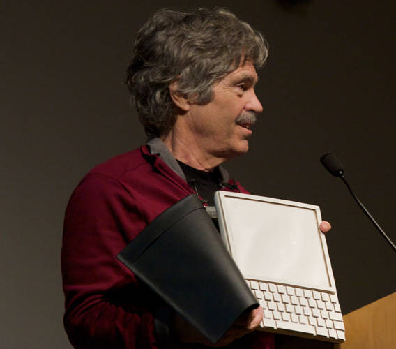 The history of the e-book and the laptop are curiously intertwined--and not surprisingly, since the quest for a laptop was ultimately the quest for a book-sized computer. Alan Kay, pictured here, envisioned something called the DynaBook back in the late '60s. It was a dual vision, looking ahead both to an era when books were more like computers, and computers were more like books.