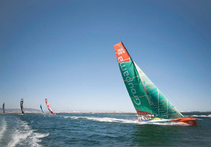 Volvo Ocean Race 2011-12 Pro-Am Race in Cape Town, South Africa, one of the mini races held during stopovers.