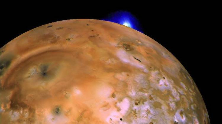 <p>In 1979 Voyager discovered the volcano Loki on Io, the tiny moon of Jupiter that's the only other place we've discovered active volcanos yet.</p>  <p>And Loki is truly the big daddy supervolcano. It's the size of Connecticut, with a crater that's 125 miles across, and it shoots material up to 250 miles into space above Io (that's about ten times higher than any Earth volcano). Unlike on Earth, Io's volcanos are powered by gravitational &quot;tidal&quot; forces caused by its orbit around Jupiter--kneading the moon's core and heating it up. But lessons learned about Io's volcanos certainly apply to Earth, and have helped advance planetary science.</p>