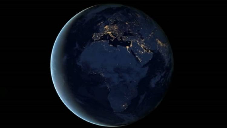 <p>Europe and Africa glitter in the night-time view of &quot;Black Marble&quot; Earth, showing how the world's population has spread from the cradle of humanity over the millenia.</p>
