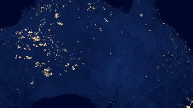 <p>Not all the night-time light in NASA's imagery is man-made: The sparks here in the middle of Australia are from giant runaway bush fires.</p>