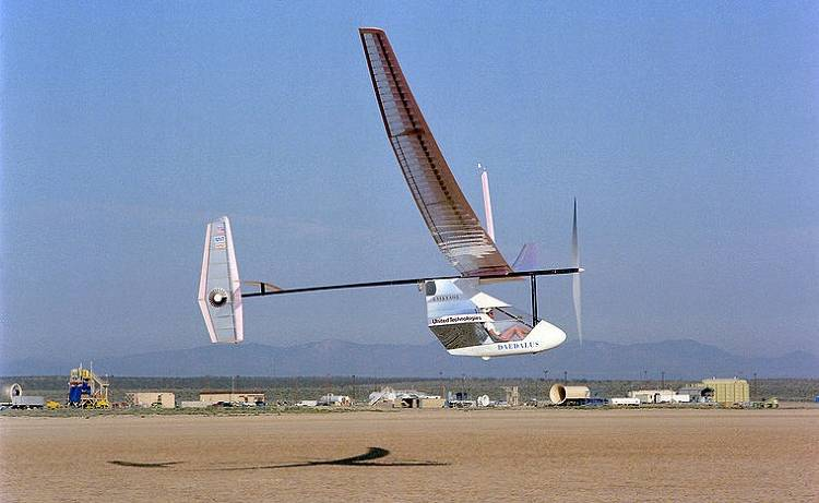 <p>Named after the cautious father of legendarily ill-fated Icarus, the Daedalus aircraft were the culmination of work on human flight at MIT.</p>  <p>The Daedalus 88 aircraft holds the FAI world record for distance and duration of human powered flight with a 71.5-mile flight lasting just short of four hours between Iraklion on Crete to the island of Santorini.</p>