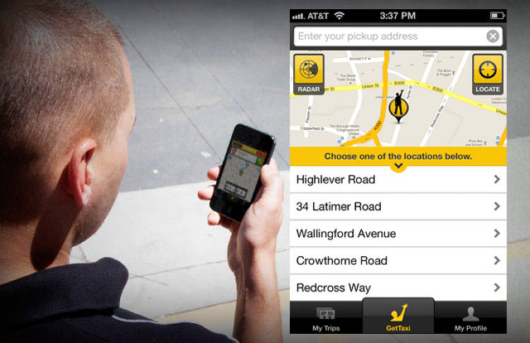 <p>You can hail a cab with GetTaxi on its website, without a GetTaxi account or the app itself.</p>
