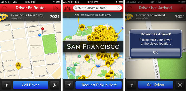 <p>The Flywheel app works with cabs in more than a dozen cities, including a third of San Francisco's cabs.</p>