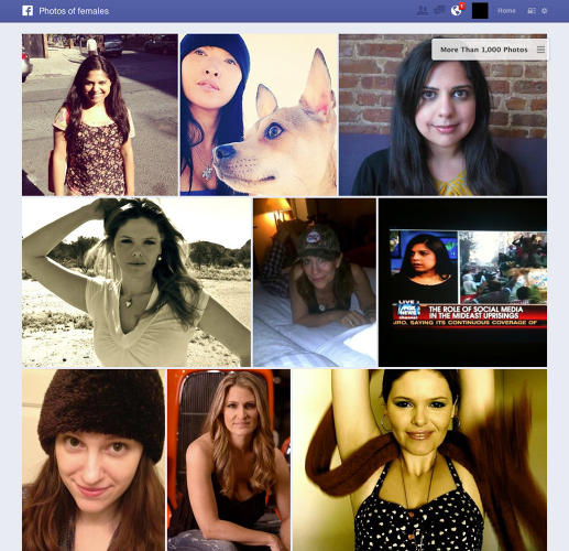 "<p>Example Search: ""Photos of girls""</p>  <p>Who Else Is Doing This With Facebook's Data: <a href=&quot;http://www.pixable.com/&quot; target=&quot;_blank&quot;>Pixable</a></p>"