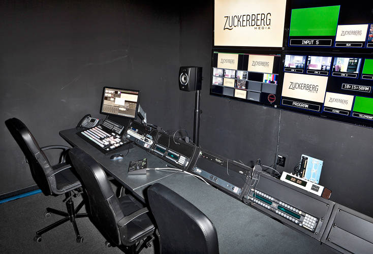 <p>The control room can handle up to 12 cameras.</p>