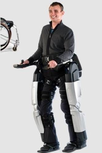 <p>Rex's legs are adapted from the Rex robotic exoskeleton. The Rex robotic exoskeleton is a pair of robotic legs that let disabled people walk, and do away with crutches and wheelchairs.</p>