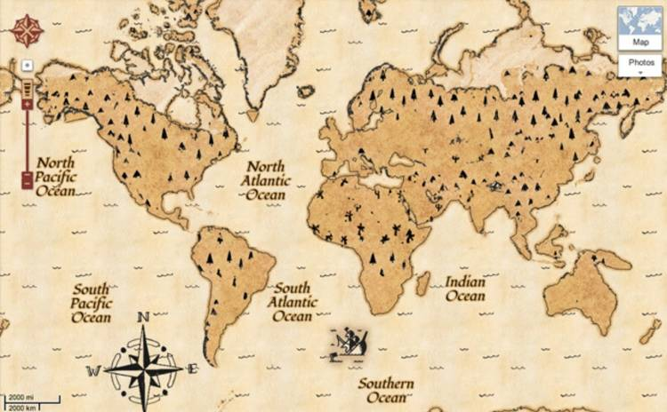 <p>Google has added a &quot;treasure map&quot; mode to Maps in honor of Google's September 2012 discovery of a paper map owned by Captain Kidd. Interactive and a bit fun, yes. Funny? Or plausible? Nope.</p>
