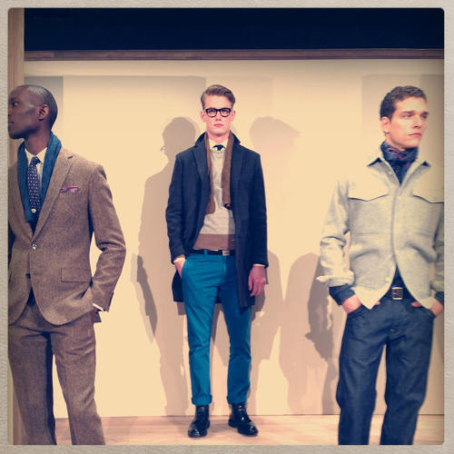 <p>J. Crew shows off their Fall 2013 collection during New York Fashion week on February 11th, 2013.</p>