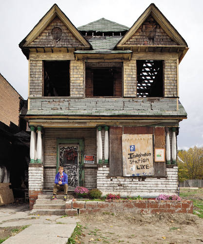 <p>A mysterious fire gutted Paffendorf's performance space, but he remains optimistic about its future, and Detroit's.</p>