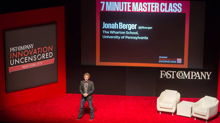 <p>Jonah Berger, James G. Campbell Assistant Professor of Marketing, Wharton School, University of Pennsylvania, Author, <em>Contagious</em>, presents one of the day's 7-Minute Master Classes. <a href=&quot;https://soundcloud.com/fast-company/jonah-berger-on-virality&quot; target=&quot;_blank&quot;>Listen here</a>.</p>