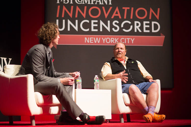<p><em>Fast Company</em> Editorial Director, Digital Tyler Gray spoke with chef, restauranteur, and television personality Mario Batali about social media, rule-breaking, and whether or not real carbonara has cream. Listen for the answer below. (Some NSFW content--this was Innovation <em>Uncensored</em>, after all.)</p>