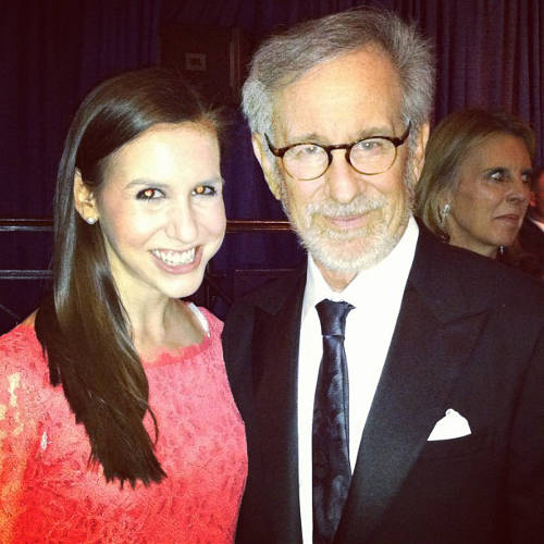 <p>Steven Spielberg with Schweitzer.</p>  <p>All photos from <a href=&quot;http://instagram.com/cschweitz/&quot; target=&quot;_blank&quot;>Callie Schweitzer's Instagram account</a>.</p>
