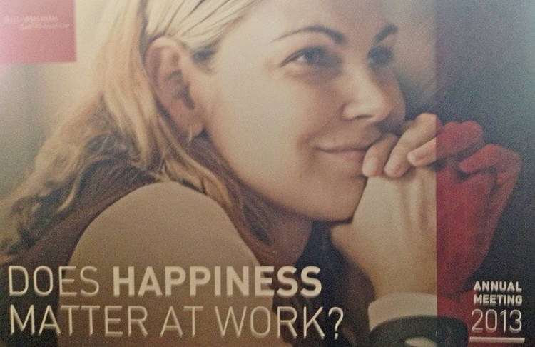 <p><strong>Photo at Gates Foundation</strong><br /> This billboard met Grosso at the Seattle HQ of the Gates Foundation in anticipation of a Happiness presentation.</p>