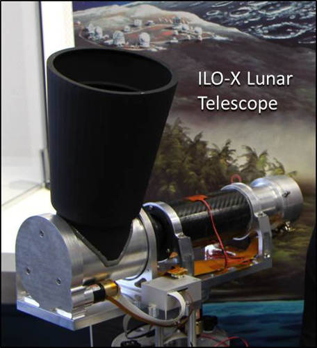 <p>The privately backed ILO-X telescope, roughly the size of a shoebox, is expected to start lunar operations in 2015.</p>