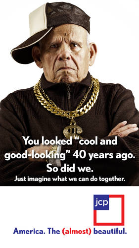 <p>J.C. Penney could easily embrace the boomer generation--and others--who still think of themselves as being cool, but not in the Abercrombie &amp; Fitch way. That's what this ad embraces.</p>