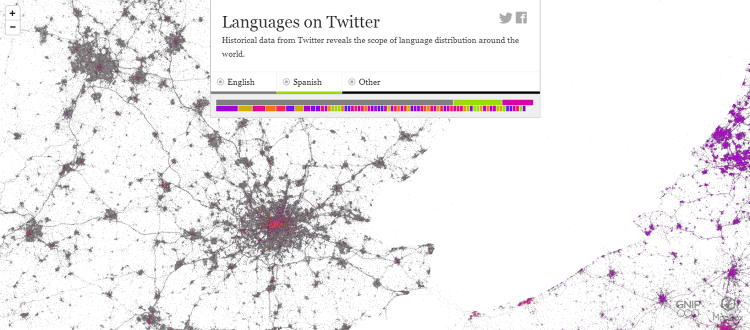 <p>London is a hotbed of non-Anglophone Twitter users in the United Kingdom.</p>