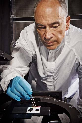 <p>NASA's John Hagopian working on nanotubes.</p>