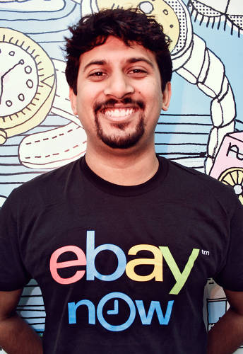 <p>Kausik Mishra works at eBay Now while attending school.</p>