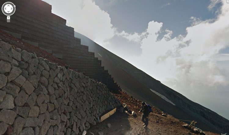 <p>The view from Mount Fuji, courtesy of Google Street View.</p>