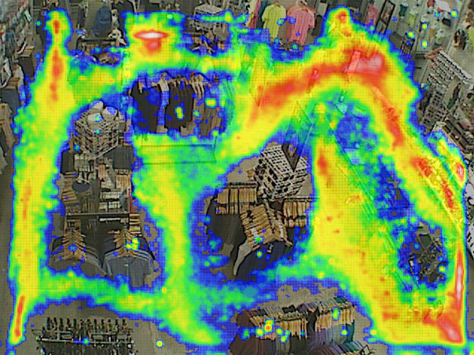 <p>This RetailNext heat map gives a different view of store traffic.</p>