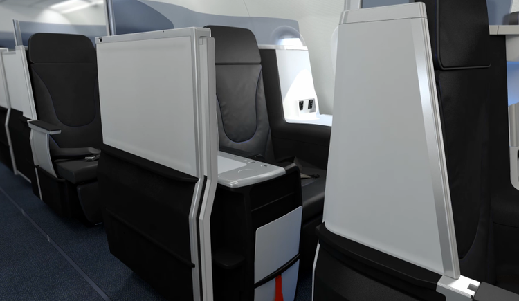 <p>Four seats on each plane will come with sliding doors for privacy.</p>