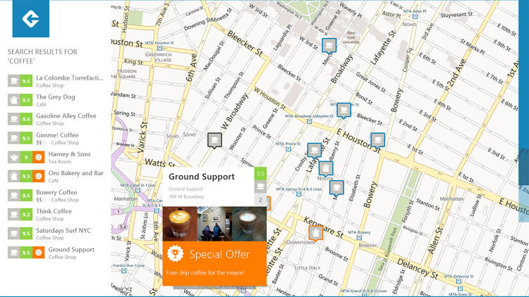 <p>A look at Foursquare's Windows 8 app.</p>