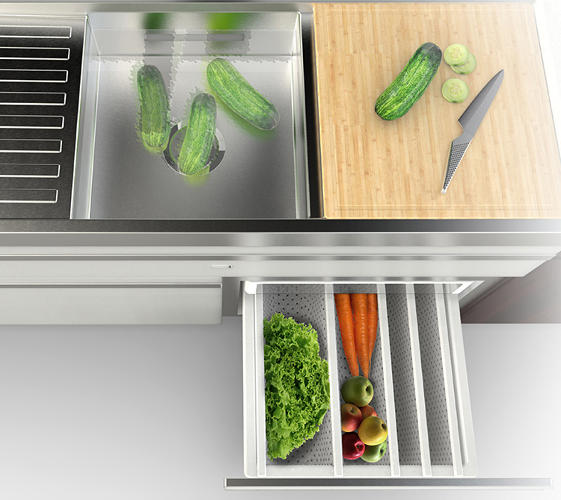 <p>&quot;The kitchen is sort of disappearing,&quot; Lenzi says, at least in the sense of a territorially bounded space. &quot;Now it's part of the overall environment. [...] Kitchen appliances need to become part of that overall connected system.&quot;</p>