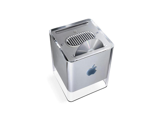 <p>The result of Apple acquiring NeXT, the Power Mac G4 Cube was introduced in 2000.</p>
