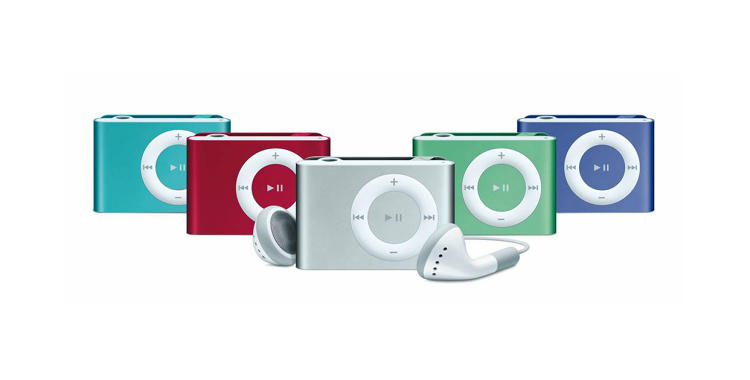 <p>Less than half the size of the first generation Shuffle, this model was called the &quot;most wearable iPod ever&quot; as it had a built-in belt clip on the device.</p>