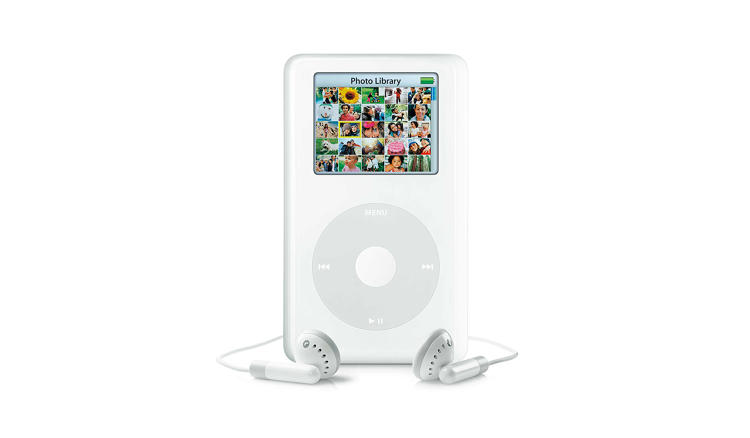 <p>The top of the line iPod model at the time, the iPod Photo saw a comparatively huge 60 GB capacity and could store and display color photos. Eight months after its introduction, it was folded back in with the iPod classic line, bringing a color display and photo storage to every full-size iPod.</p>