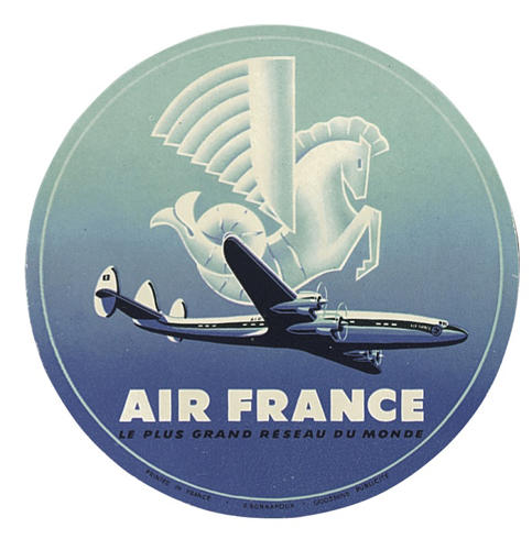 <p>Air France got fantastical with a winged seahorse logo.</p>