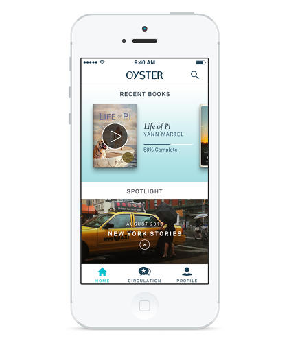 <p>Oyster's iPhone app gives members access to 100,000 titles from hundreds of publishers for $9.95 a month.</p>